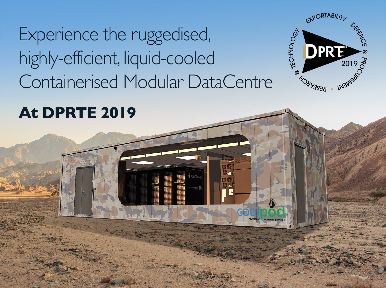 CoolPod: Experience the ruggedised, highly-efficient, liquid-cooled Containerised Modular DataCentre