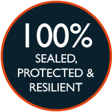 100% Sealed protected and resilient