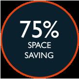 75pc space saving