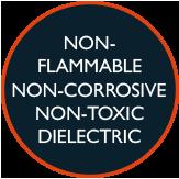 Non-flammable, non corrosive, non toxic dielectric