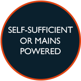 Self sufficient or mains powered