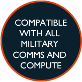 Compatible with military comms