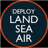 Deploy land, sea, air