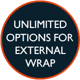 Unlimited options for external wrap